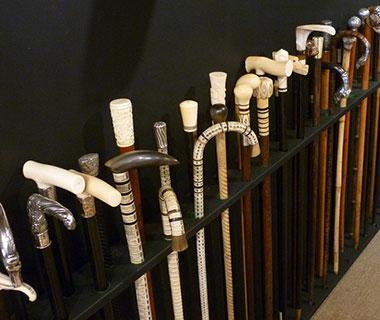 Denis Perry Antiques & Interiors, Ashburton, Devon, walking sticks